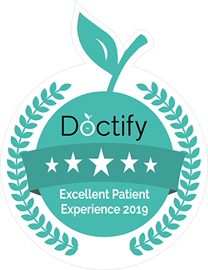 a trusted badge for an ENT from doctify